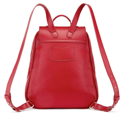 Tusting Eliza Large Leather Backpack / Handbag in Scarlet-Handbag-Sterling-and-Burke