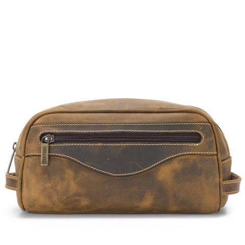 Tusting Excursion Toiletry Bag Aztec Leather