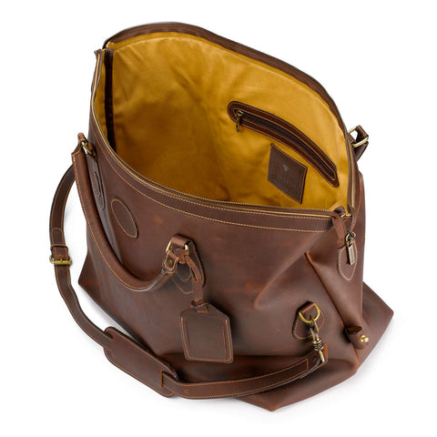 Tusting Explorer Large Duffle Bag in Sundance Leather-Travel Bags-Sterling-and-Burke