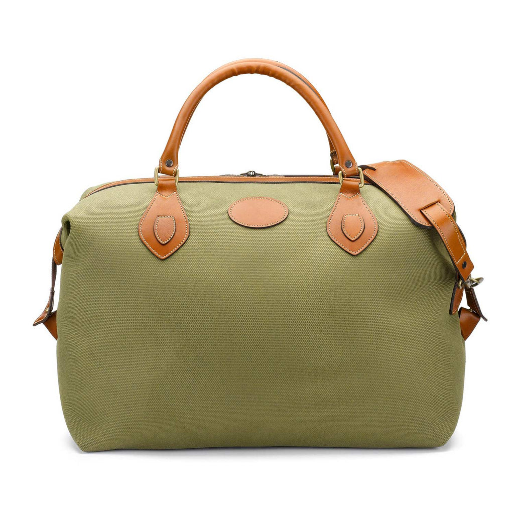 Tusting Explorer Medium Duffle Bag in Olive Canvas-Travel Bags-Sterling-and-Burke