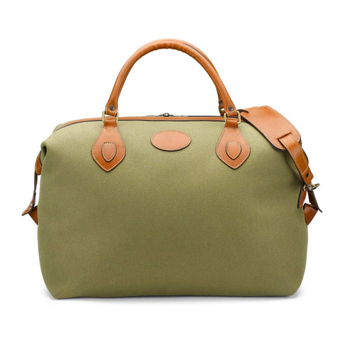 Tusting Explorer Medium Duffle Bag in Olive Canvas