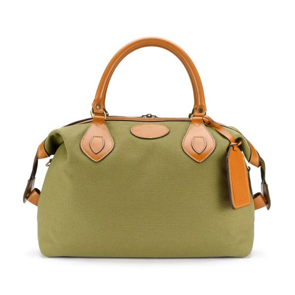 Tusting Explorer Small Duffle Bag in Olive Canvas-Travel Bags-Sterling-and-Burke