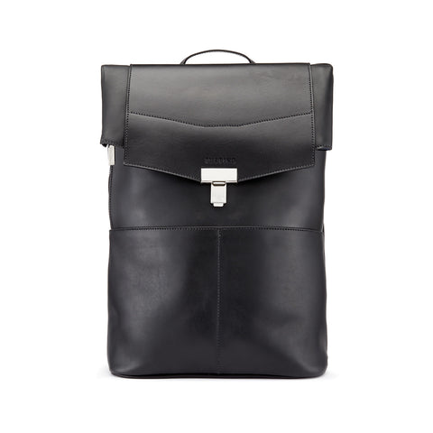 Tusting Gainsborough Leather Backpack in Black