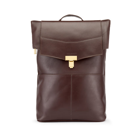 Tusting Gainsborough Leather Backpack in Chocolate