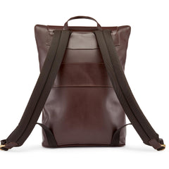 Tusting Gainsborough Leather Backpack in Chocolate-Business Bags-Sterling-and-Burke