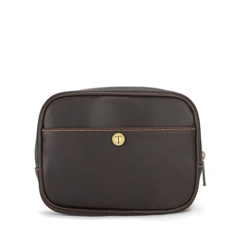 Tusting Harrogate Toiletry Bag in Sundance Leather-Leather Accessories-Sterling-and-Burke