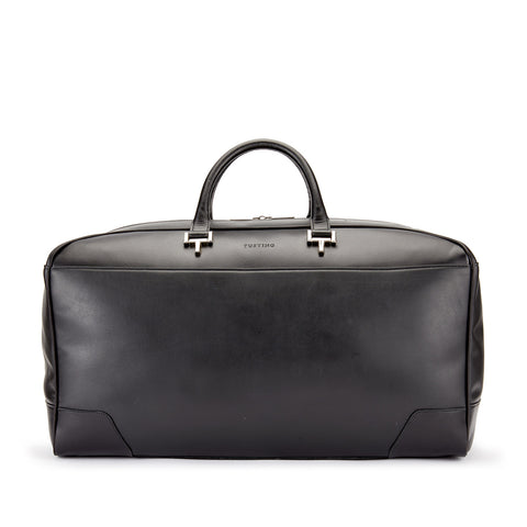 Tusting Hingham Leather Duffle Bag in Black
