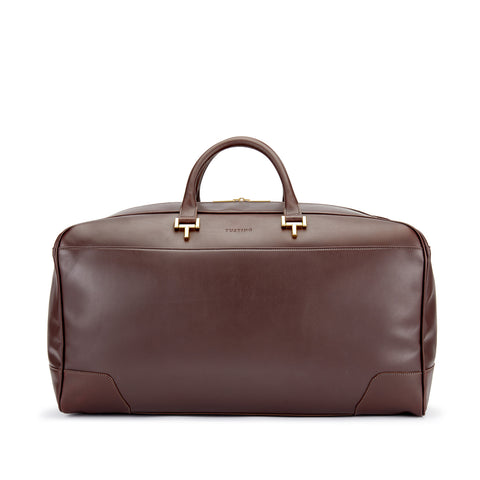 Tusting Hingham Leather Duffle Bag in Chocolate