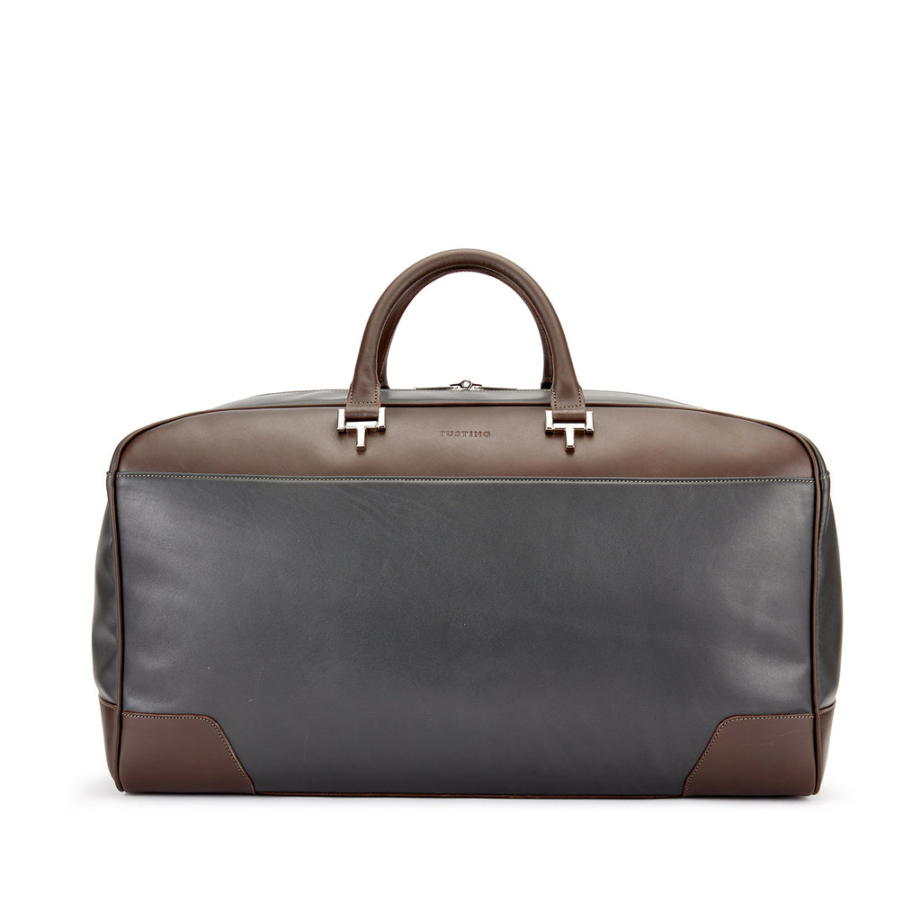 Tusting Hingham Leather Duffle Bag-Travel Bags-Sterling-and-Burke