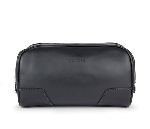 Tusting Hove Toiletry Bag in Black-Leather Accessories-Sterling-and-Burke