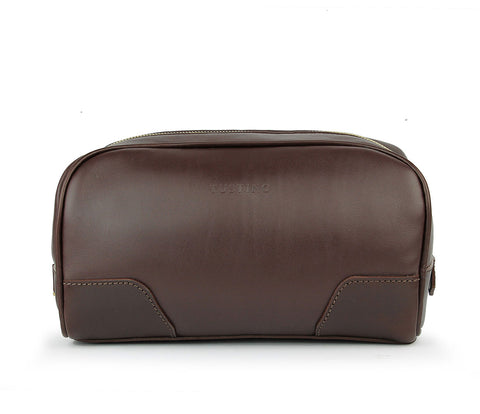 Tusting Hove Toiletry Bag in Chocolate