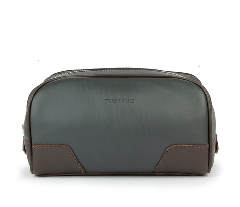 Tusting Hove Toiletry Bag in Pewter and Chocolate