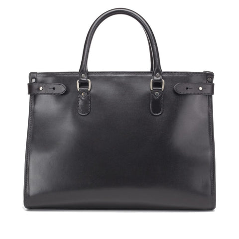 Tusting Kimbolton Large Leather Handbag in Black