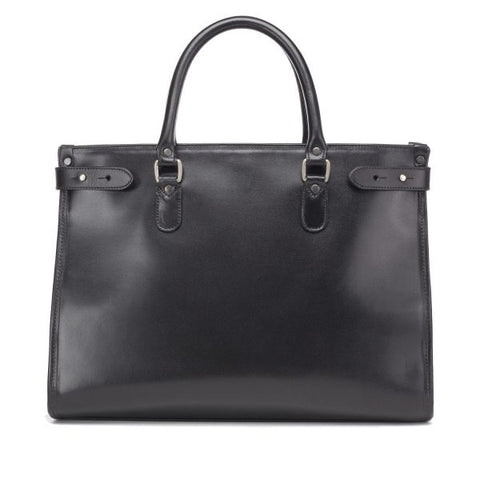 Tusting Kimbolton Large Leather Handbag in Black-Handbag-Sterling-and-Burke