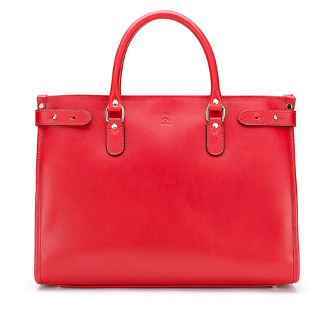 Tusting Kimbolton Large Leather Handbag in Red-Handbag-Sterling-and-Burke