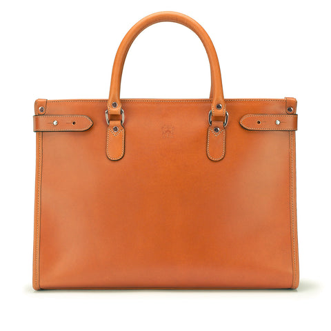 Tusting Kimbolton Large Leather Handbag in Caramel Tan