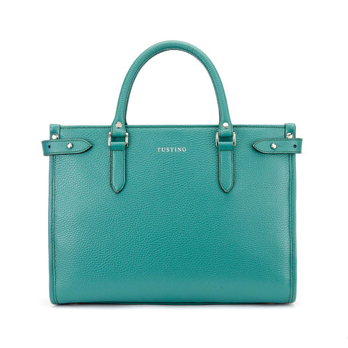 Tusting Kimbolton Small Leather Handbag in Jade-Handbag-Sterling-and-Burke