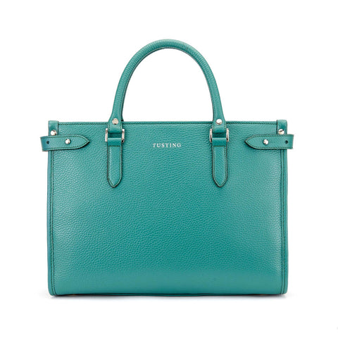 Tusting Kimbolton Small Leather Handbag in Jade