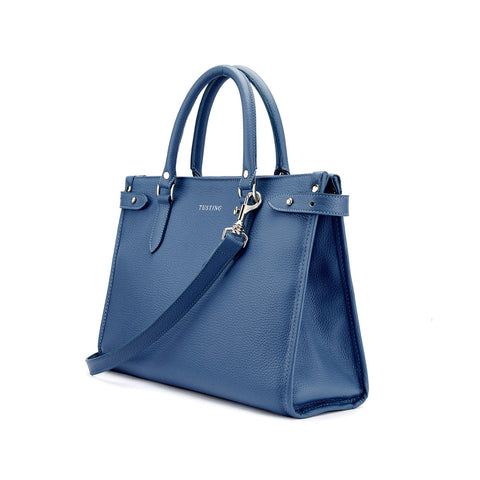 Tusting Kimbolton Small Leather Handbag in Royal-Handbag-Sterling-and-Burke