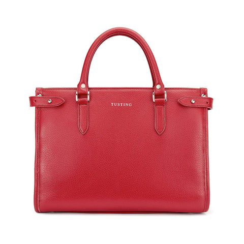Tusting Kimbolton Small Leather Handbag in Scarlet