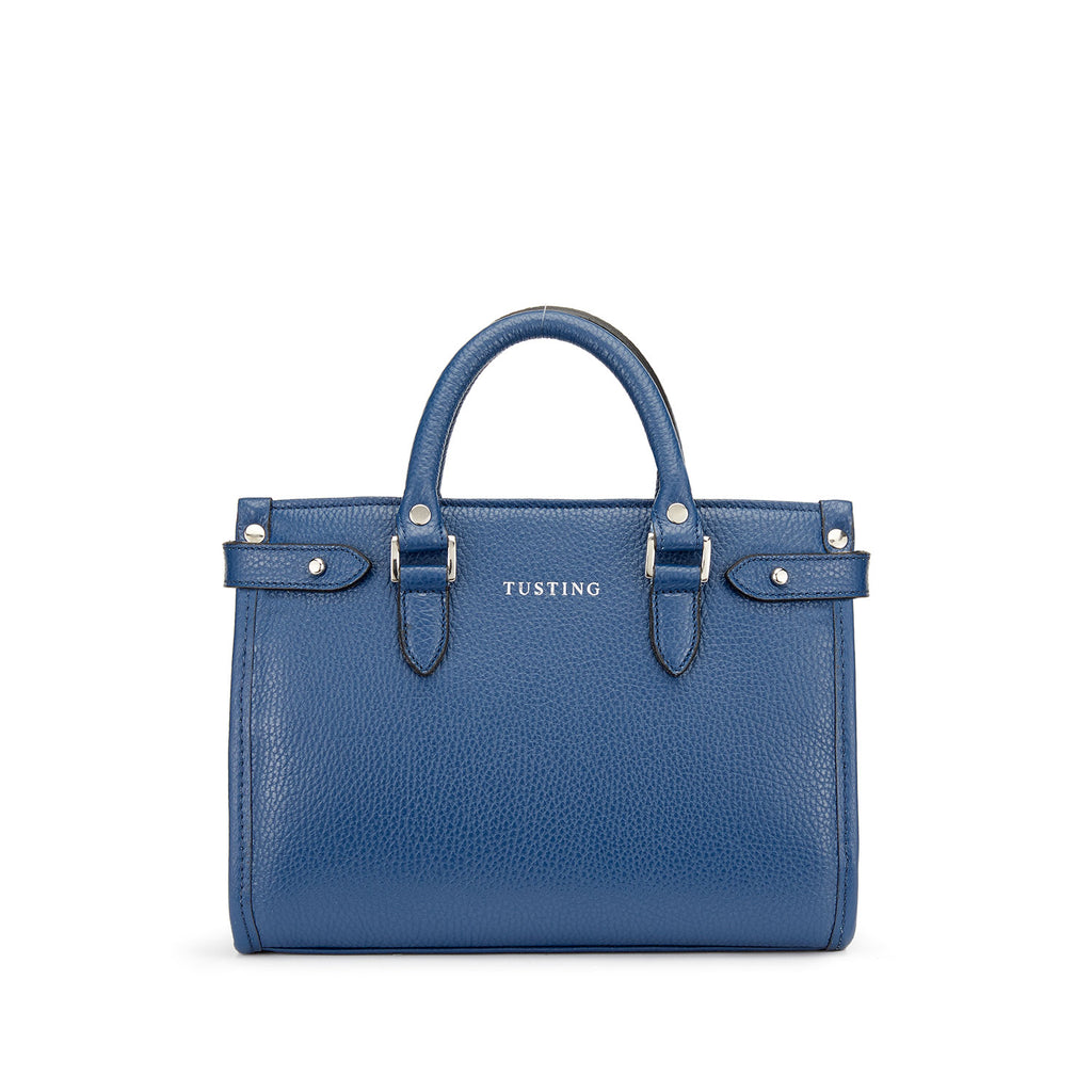 Tusting Kimbolton Mini Leather Handbag in Royal-Handbag-Sterling-and-Burke