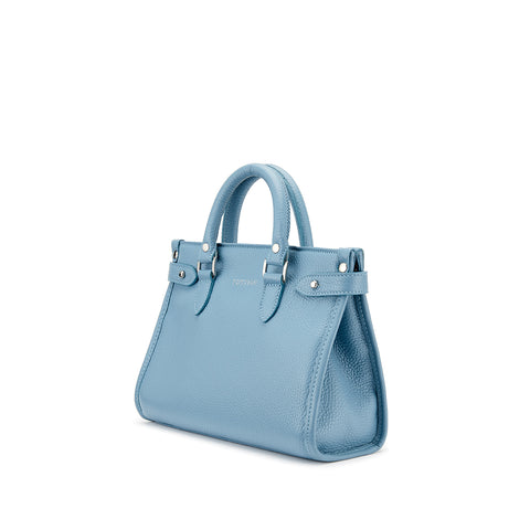 Tusting Kimbolton Mini Leather Handbag in Smoke-Handbag-Sterling-and-Burke