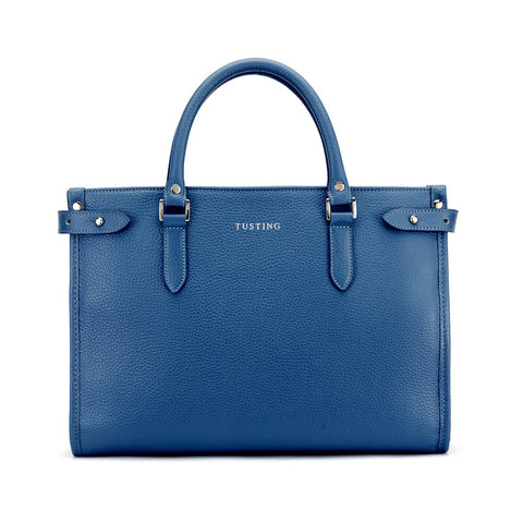 Tusting Kimbolton Small Leather Handbag in Royal