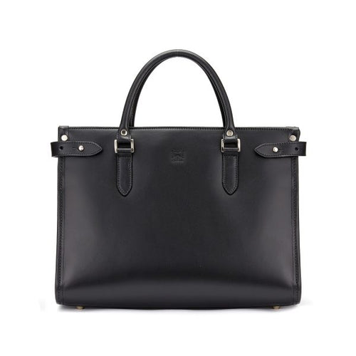 Tusting Kimbolton Small Leather Handbag in Black-Handbag-Sterling-and-Burke