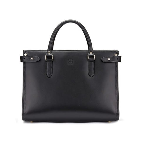 Tusting Kimbolton Small Leather Handbag in Black