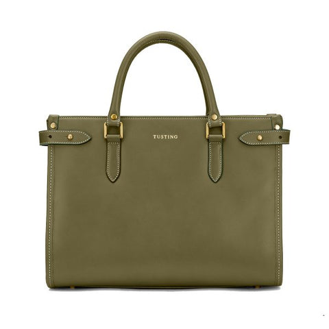 Tusting Kimbolton Small Leather Handbag in Sage