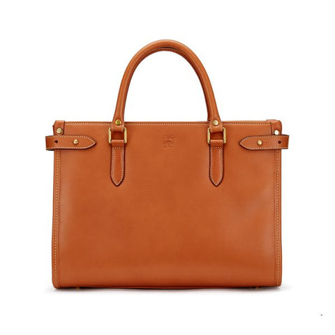 Tusting Kimbolton Small Leather Handbag in Tan