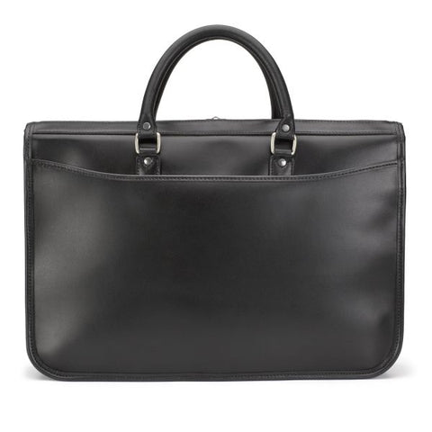 Tusting Marston Large Leather Briefcase in Black