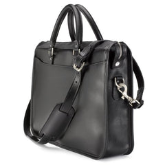 Tusting Marston Large Leather Briefcase in Black-Business Bags-Sterling-and-Burke