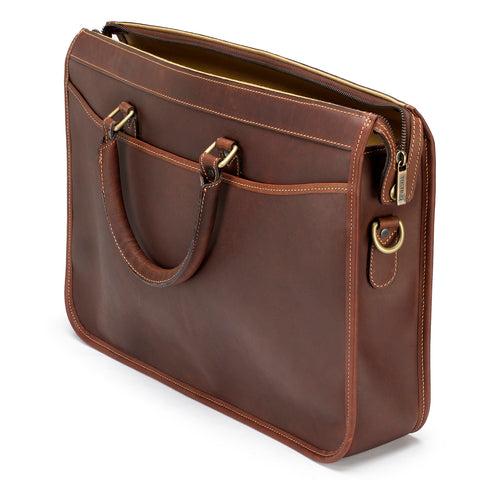 Tusting Marston Large Leather Briefcase-Business Bags-Sterling-and-Burke