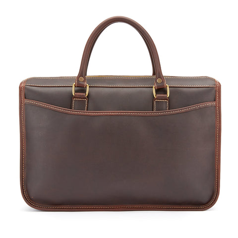 Marston Leather Briefcase | Small Various Colors | Tusting | Made in England