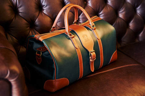 Tusting Chellington Leather Duffle Bag-Travel Bags-Sterling-and-Burke