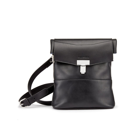 Tusting Ripon Reporter Messenger Bag in Black