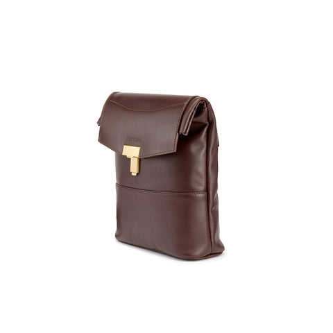 Tusting Ripon Reporter Messenger Bag in Chocolate-Business Bags-Sterling-and-Burke