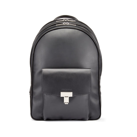 Tusting Seaton Leather Backpack in Black