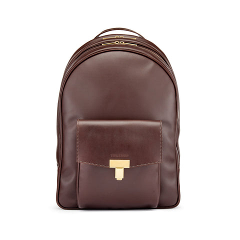 Tusting Seaton Leather Backpack in Chocolate
