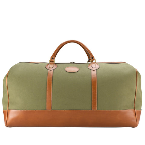 Tusting Weekender Large Duffle Bag in Olive Canvas