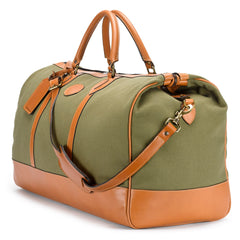 Tusting Weekender Large Duffle Bag in Olive Canvas-Travel Bags-Sterling-and-Burke