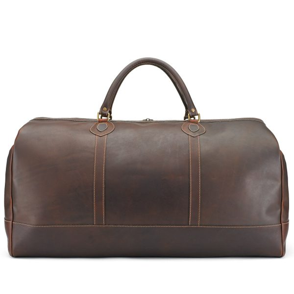 Tusting Weekender Large Duffle Bag in Sundance Leather-Travel Bags-Sterling-and-Burke
