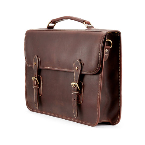 Wymington One | Single Gusset Leather Briefcase | Various Colors | Tusting | Made in England