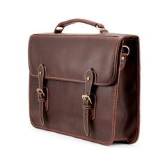 Wymington One | Single Gusset Leather Briefcase | Various Colors | Tusting | Made in England-Business Bags-Sterling-and-Burke