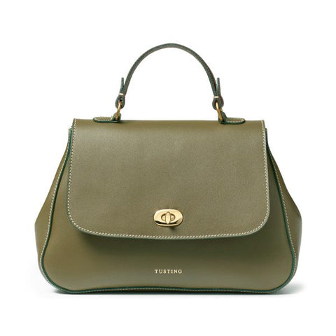 Tusting Holly Leather Handbag in Sage