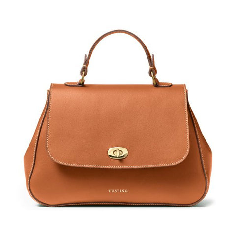 Tusting Holly Leather Handbag in Tan
