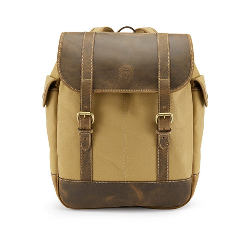 Tusting Walton Vintage Backpack in Safari Canvas and Leather