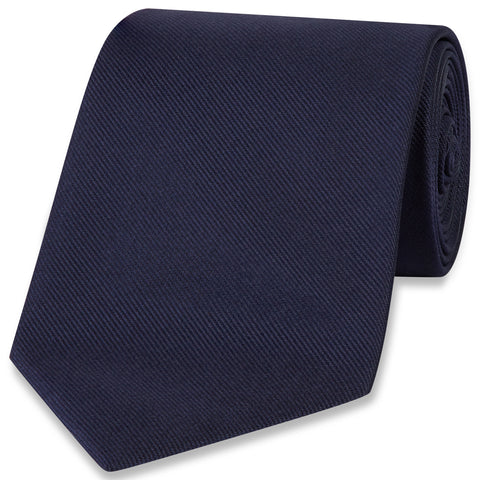 Twill Woven Tie | Navy | Budd Shirtmakers | Made in England-Necktie-Sterling-and-Burke