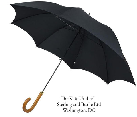 The Kate Umbrella | A Ladies Royal Umbrella | Kate Middleton's Ladies Umbrella | Black Canopy | Made in England | Sterling and Burke